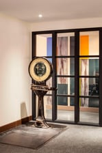 Antique scale in Fitness Room
