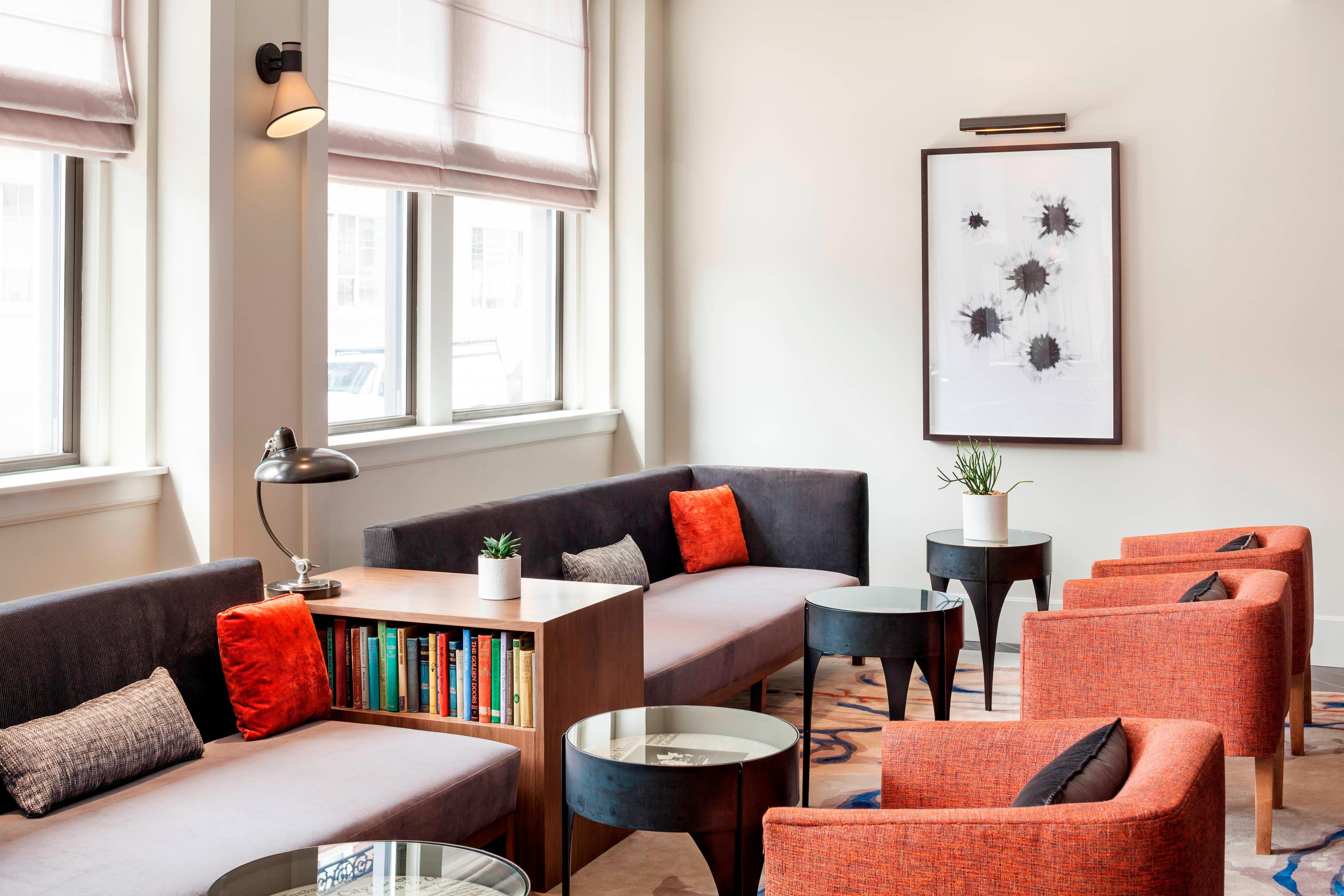 The Press Hotel - Living Room Seating Area