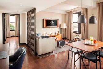 The Living Room of the Executive One Bedroom Suite