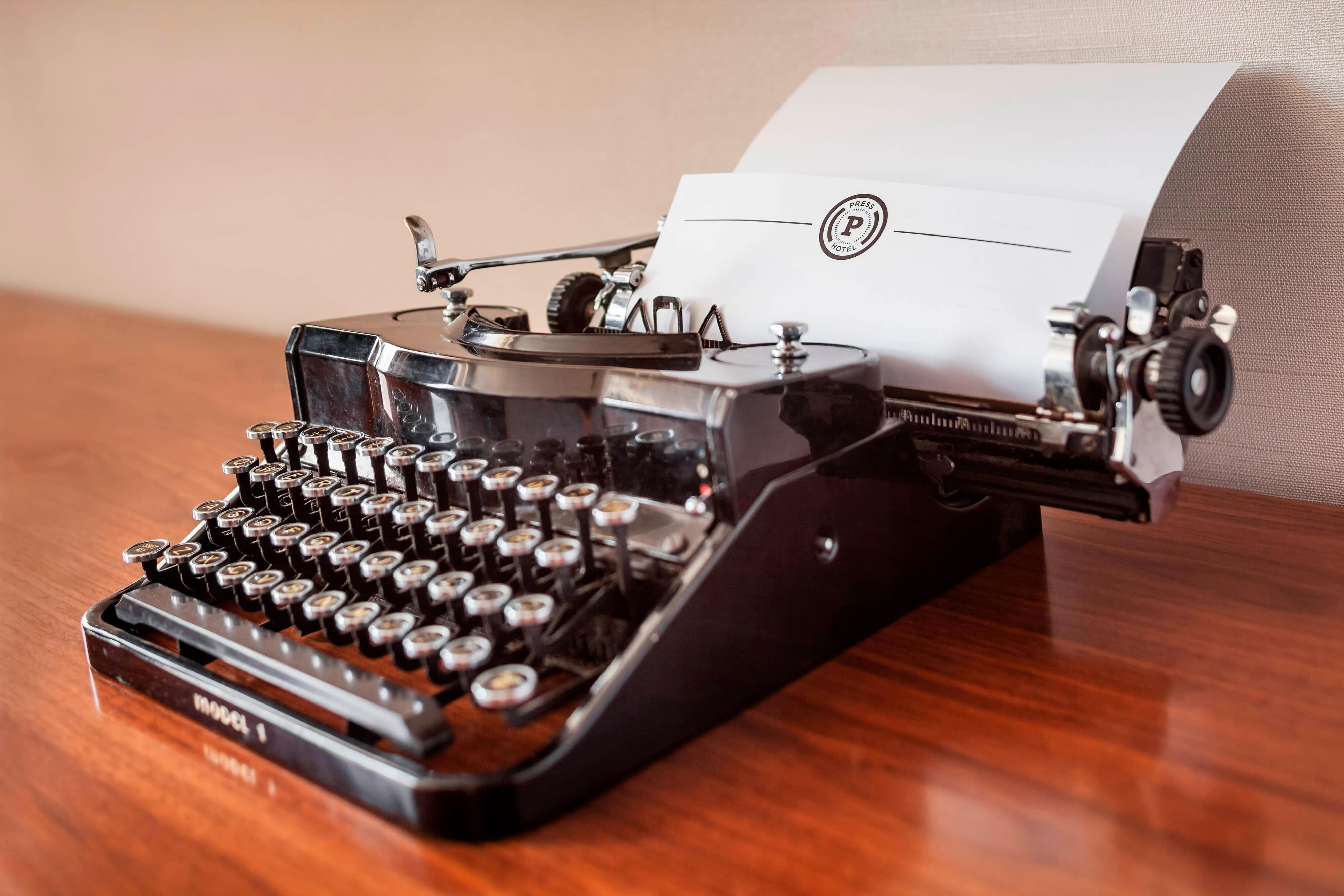 Antique typewriter in One Bedroom King Suite