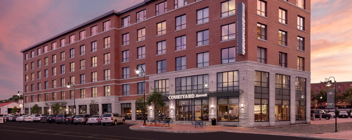 Portland, ME downtown hotel exterior