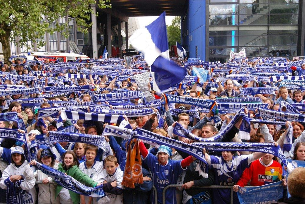 Fans of soccer Club VfL Bochum
