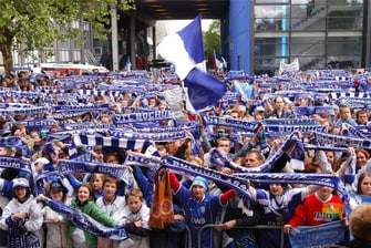 Fans des Fußballclubs VFL Bochum