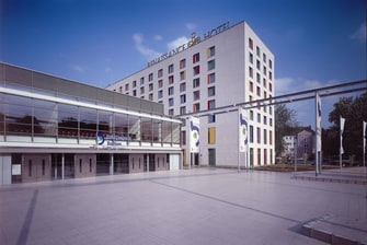 Exterior of hotel and RuhrCongress