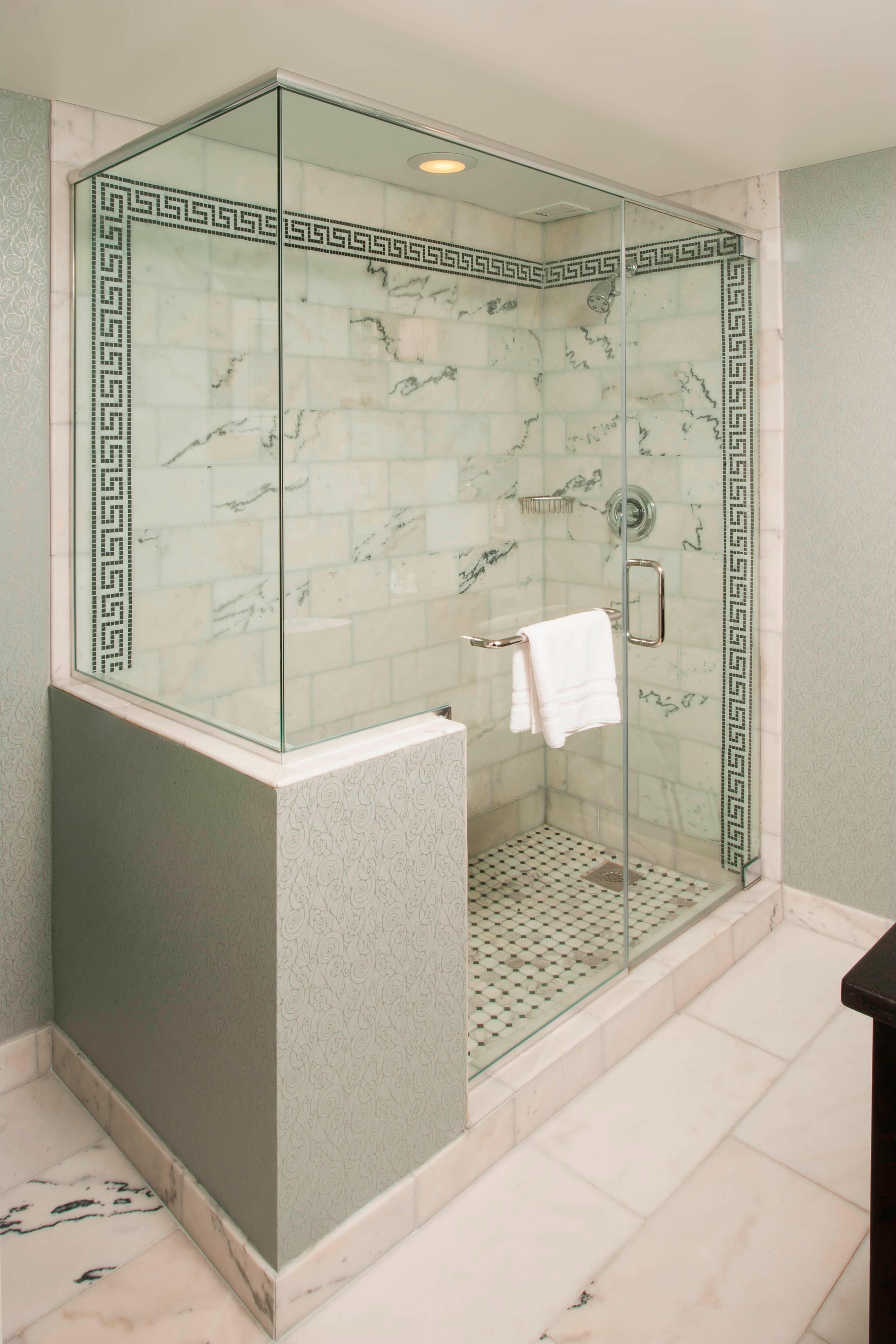 large marble bathrooms