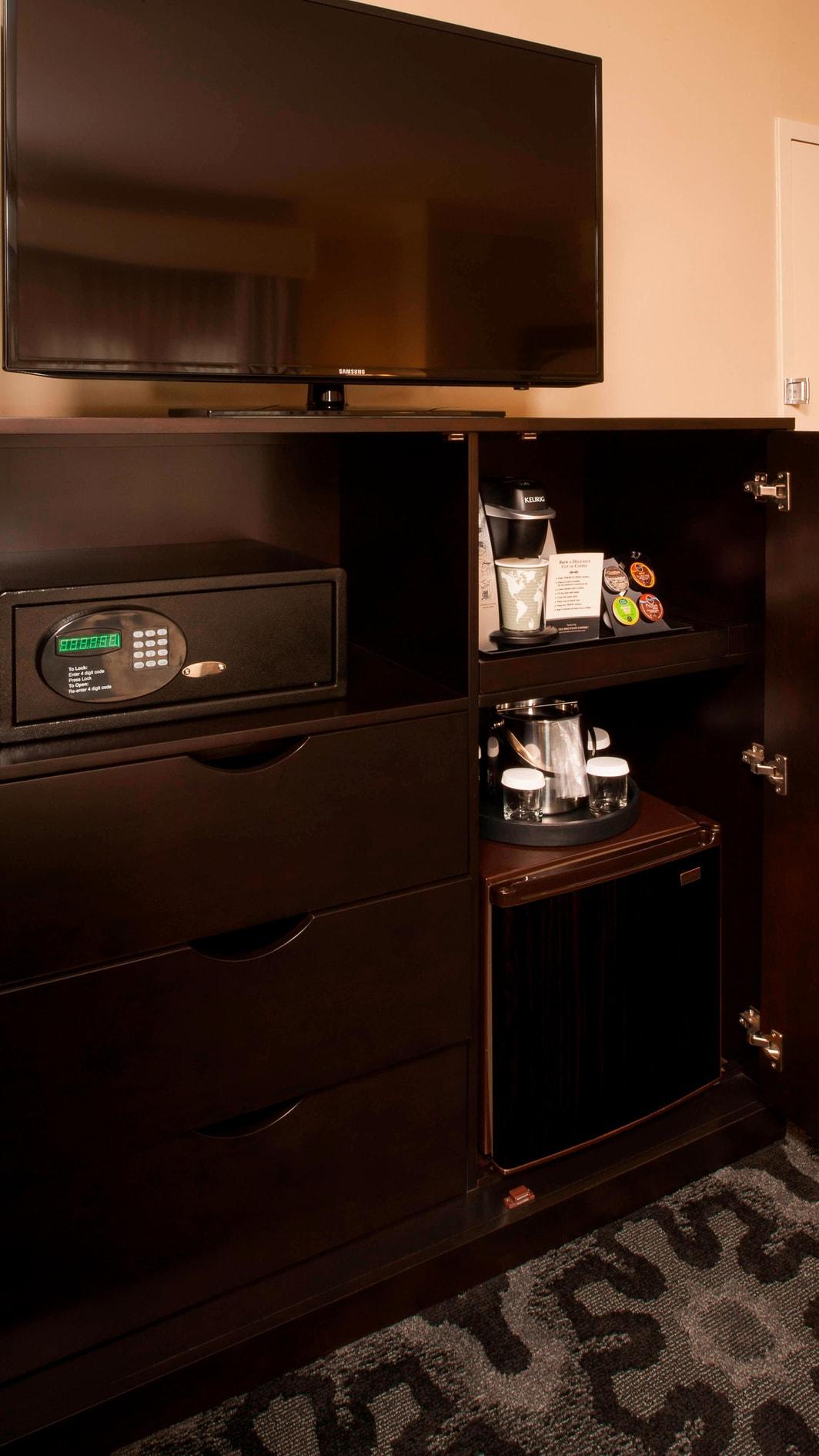 Keurig coffee, in room safe