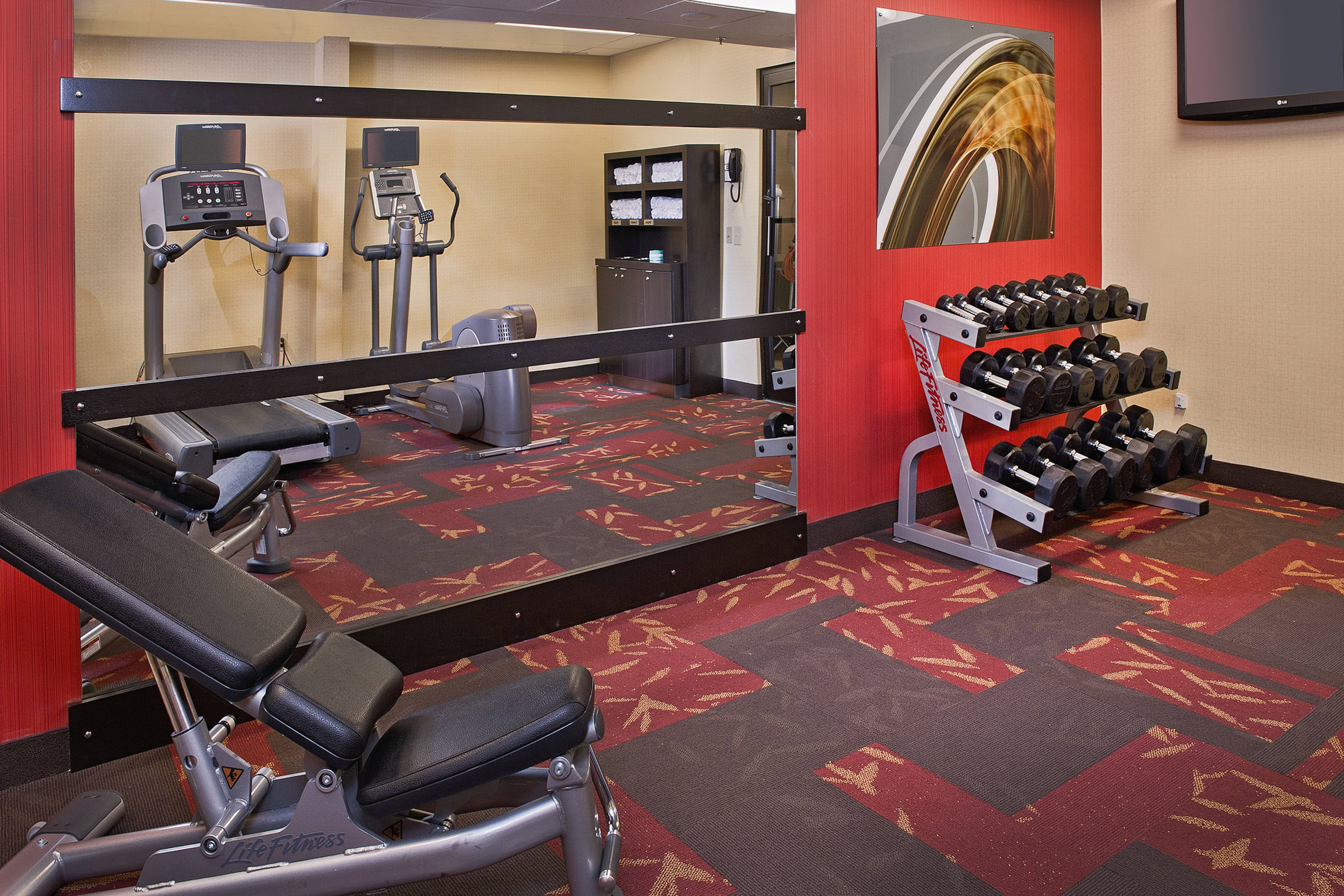 Fitness Center at the Courtyard Raleigh Cary