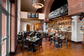 Jimmy V s Osteria & Bar Dining Room and Open Kitchen