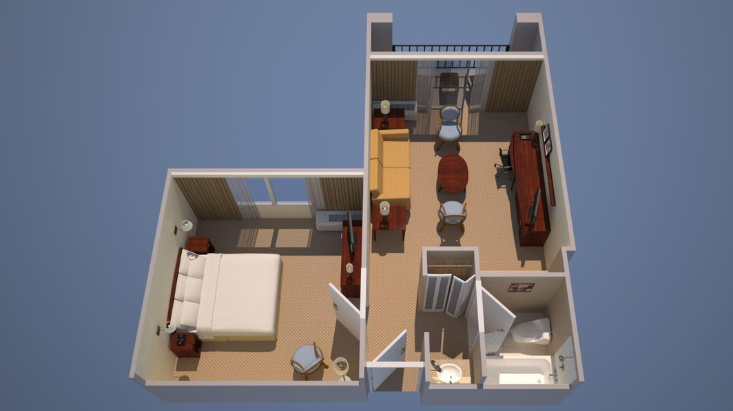 1 Bedroom Suite - 2 Room Suite - 1 King, Sofa Bed