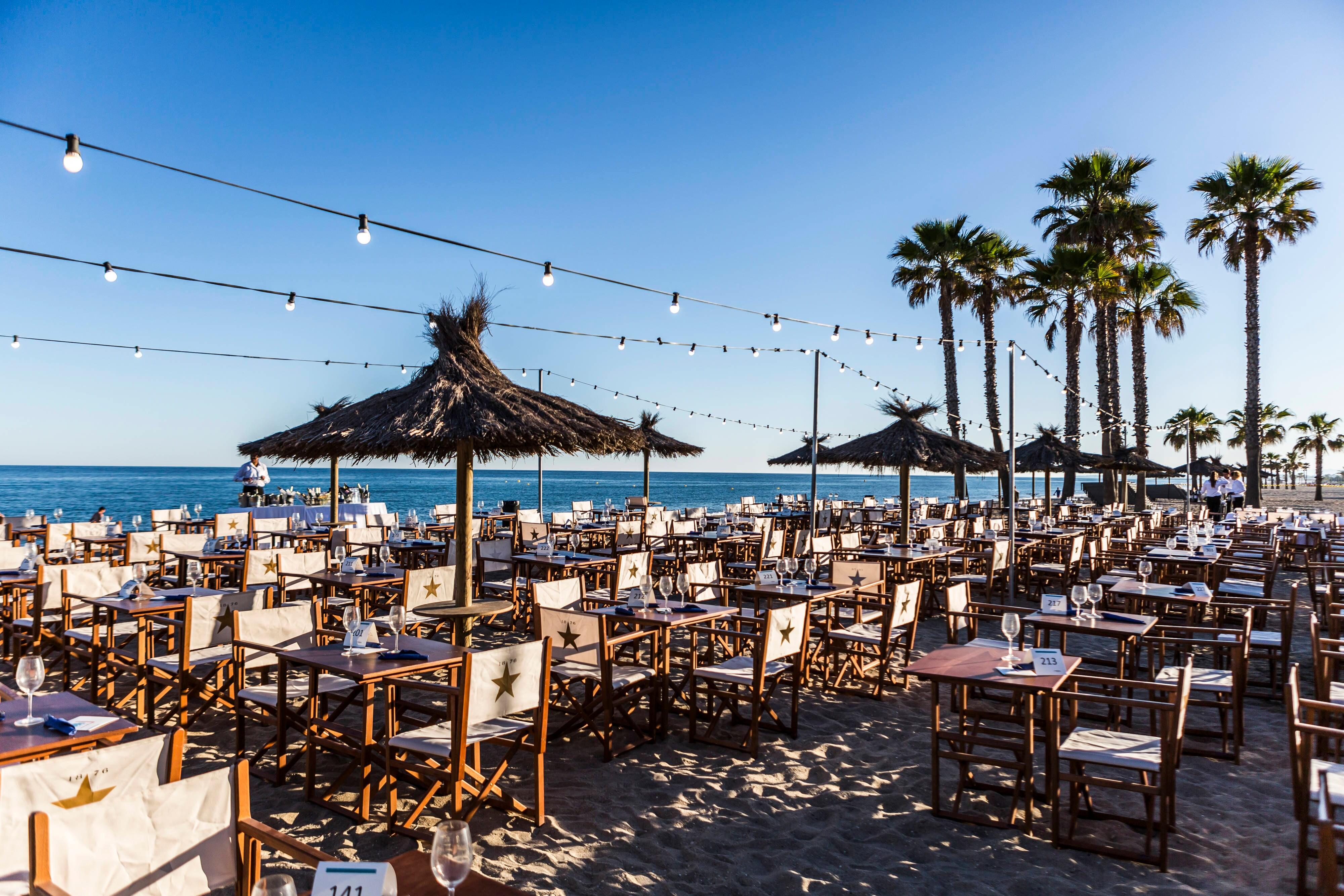Beach Club Event Set Up