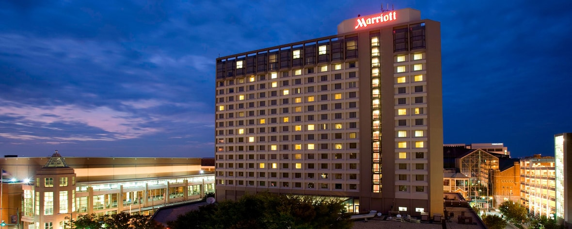 Exterior of the Richmond Marriott Hotel