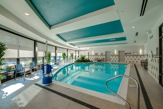 Indoor pool at Richmond hotel