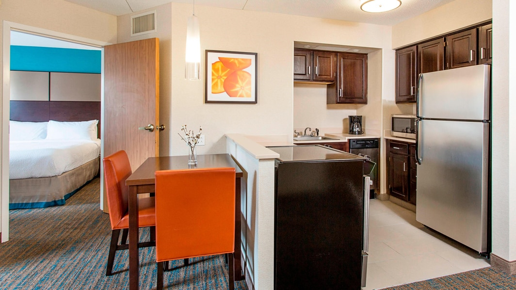 Kitchenette Two Bedroom Accessible Suite