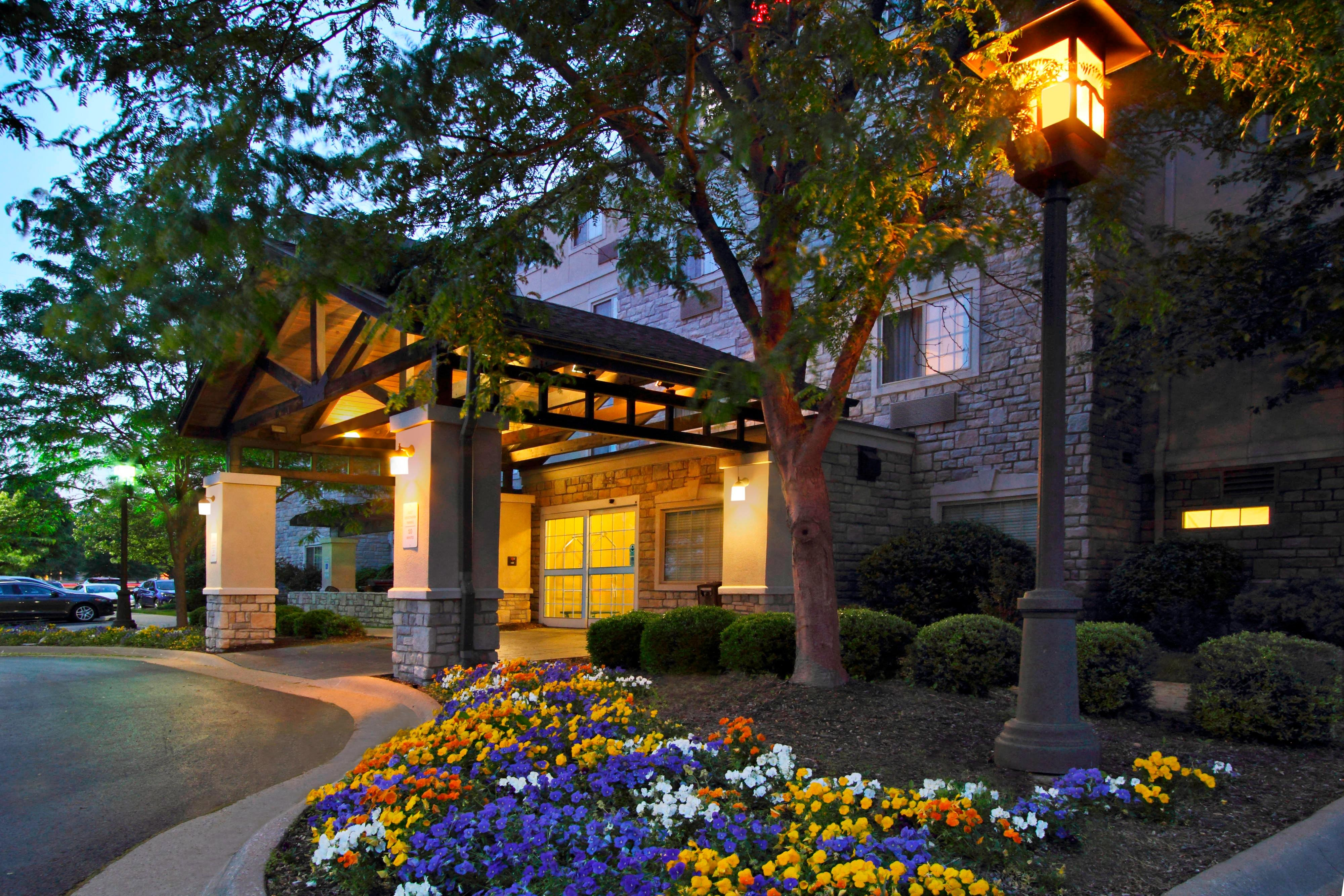 extended stay hotel entrance bentonville