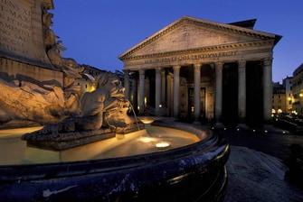 Panteón en el centro de la ciudad eterna en Roma, Italia