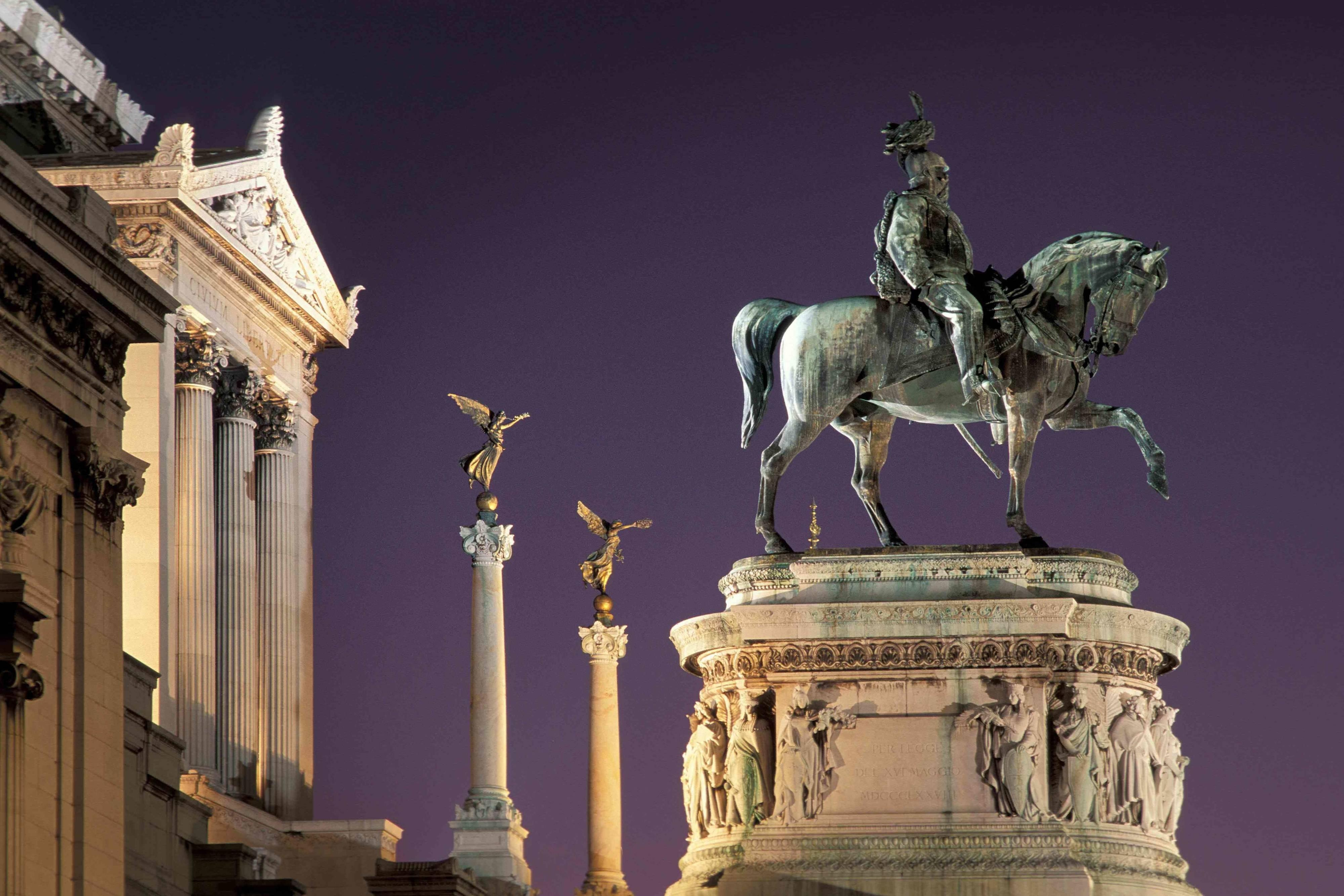 Piazza Venezia and the Vittoriano in Rome