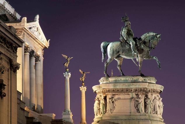 Piazza Venezia and the Vittoriano in Rome