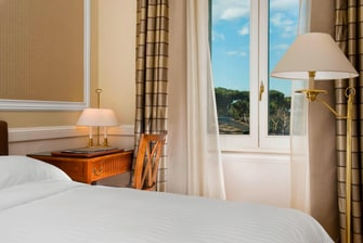 classic single room Rome Marriott Grand Hotel Flora