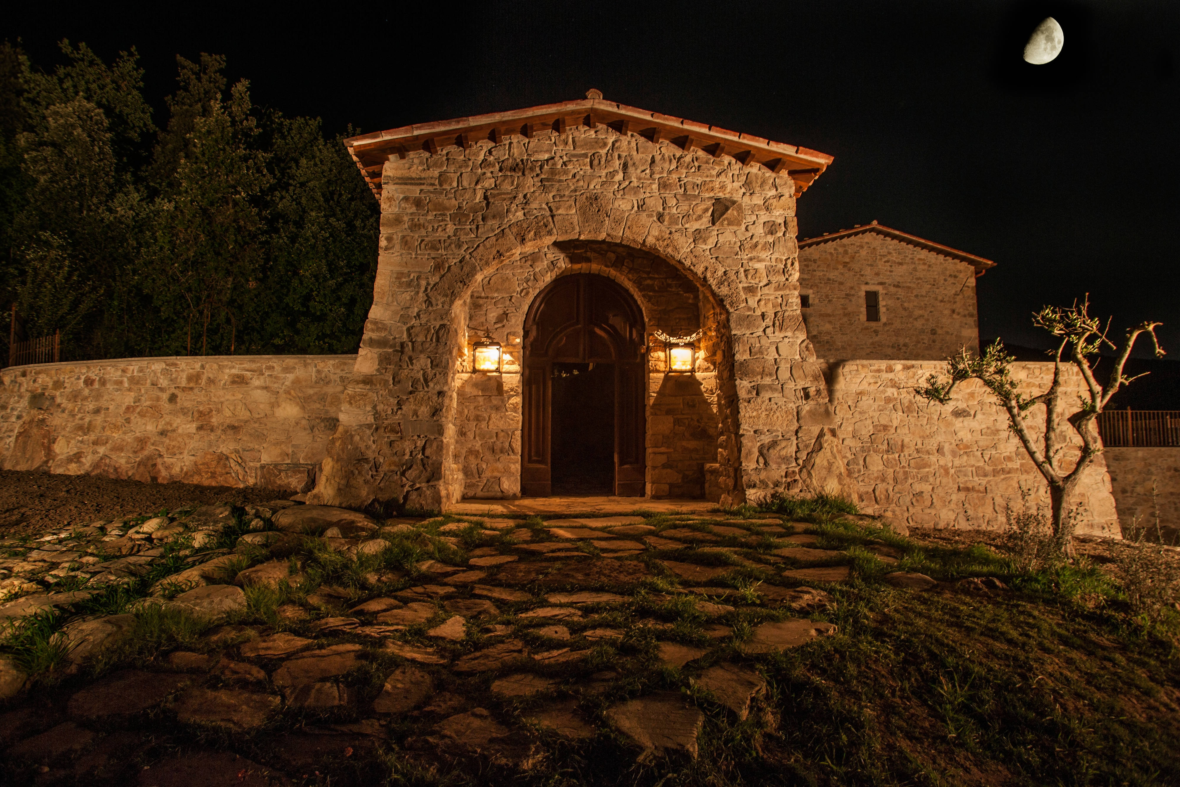 Hotel Entrance by Night