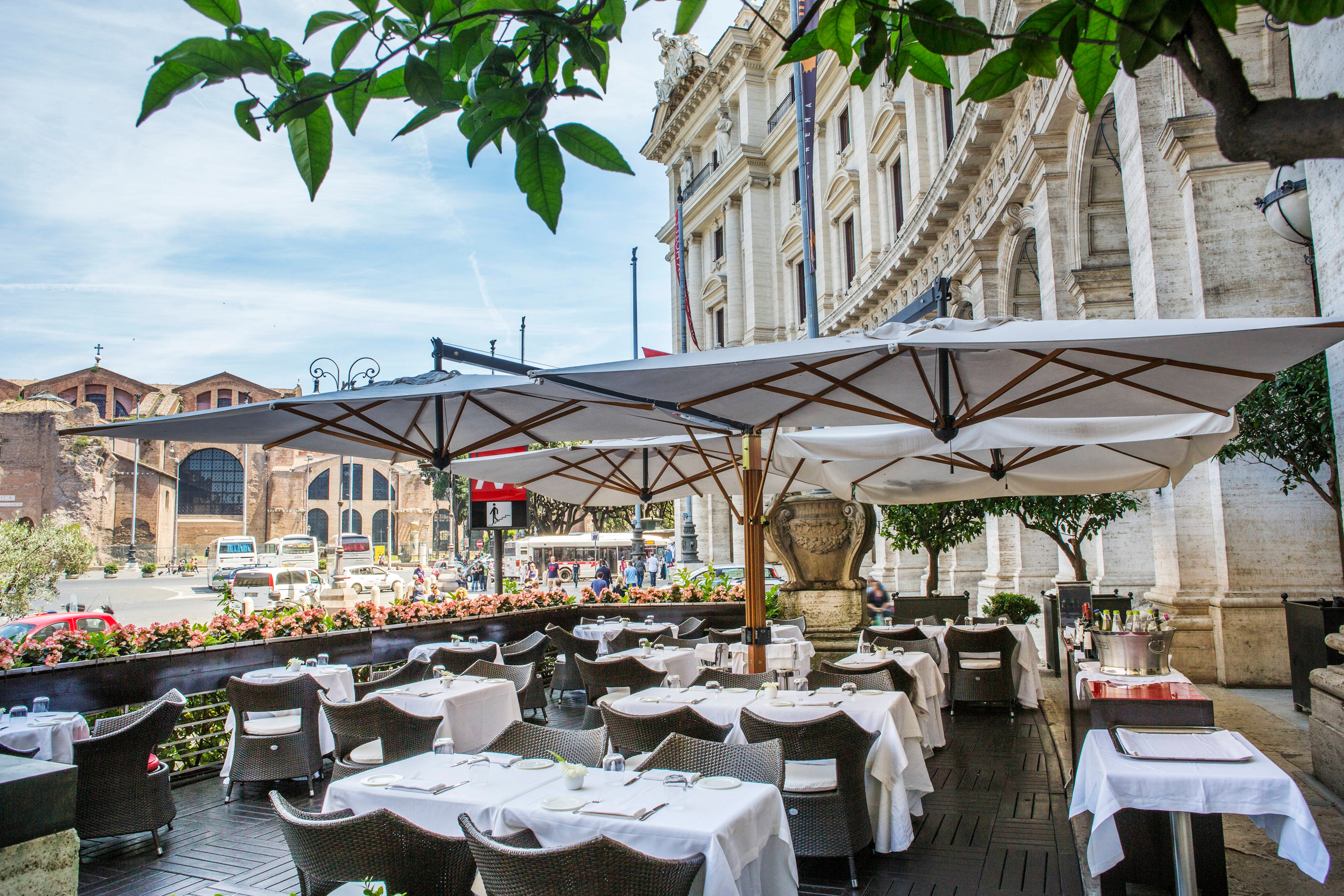Rome restaurant with terrace