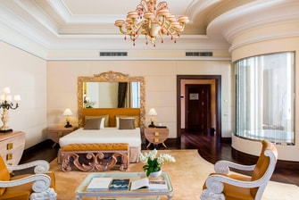 Luxury suite at Rome hotel