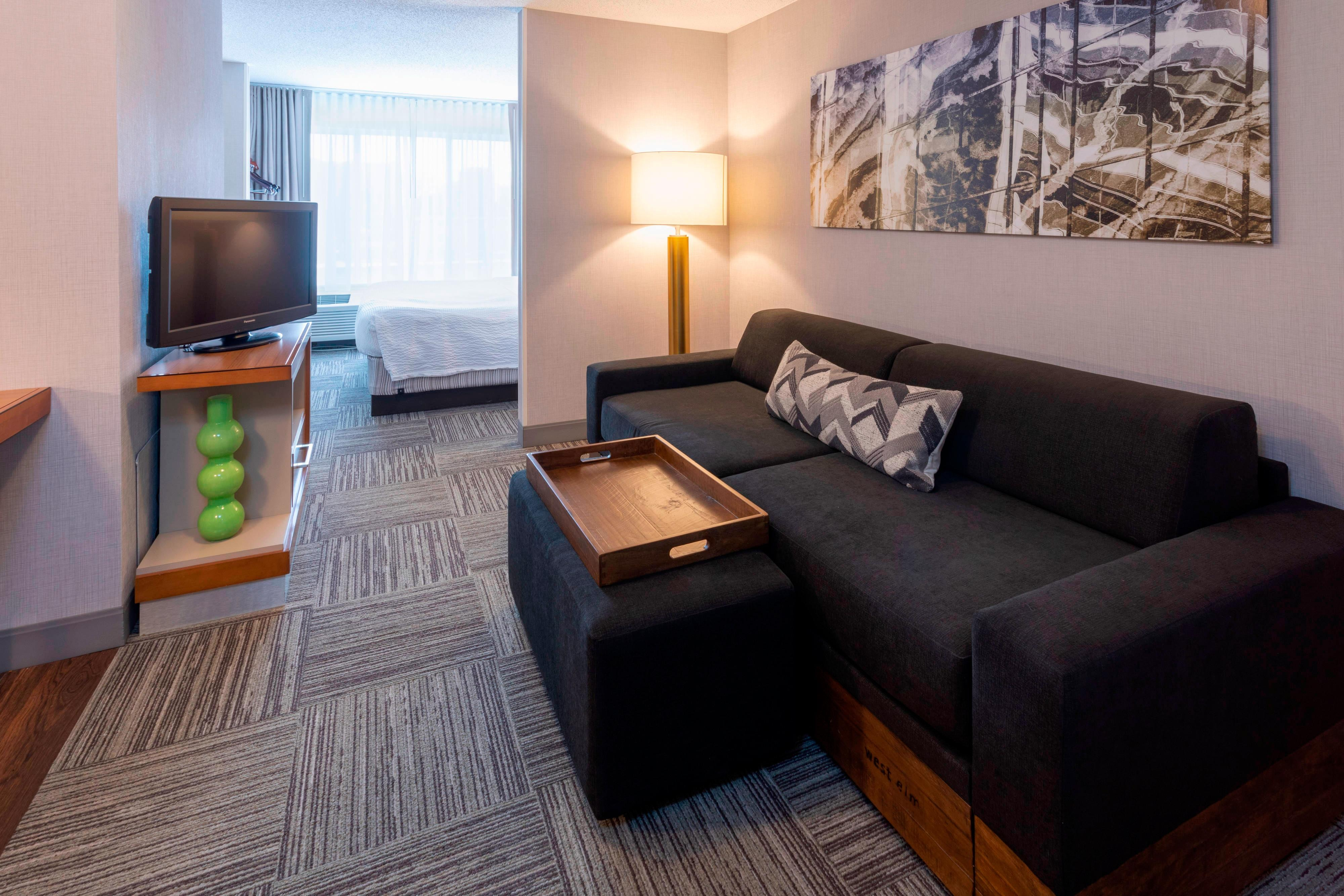 King Suite with West Elm Sofa and Trundle
