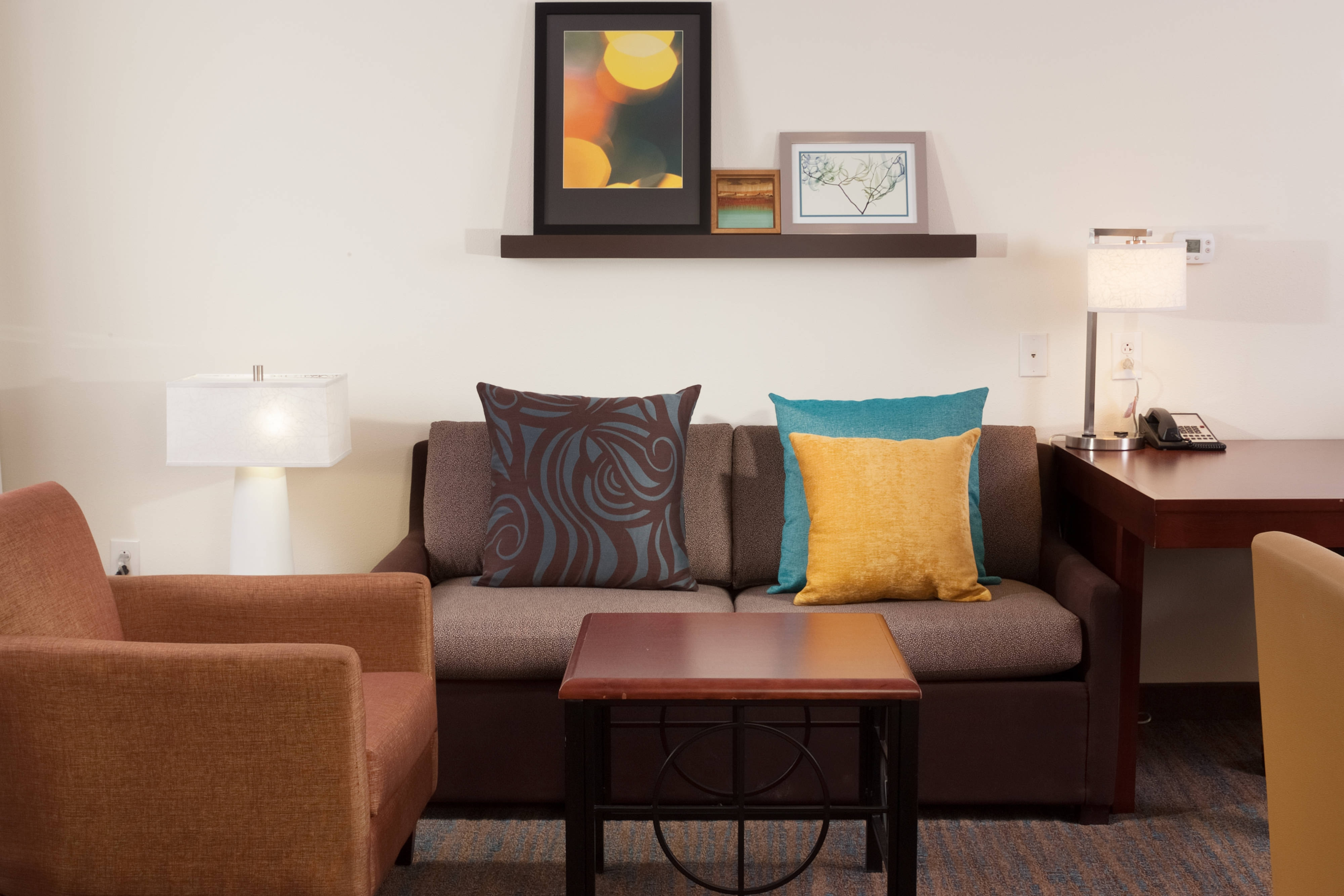 Suite Studio avec lit king size, espace salon