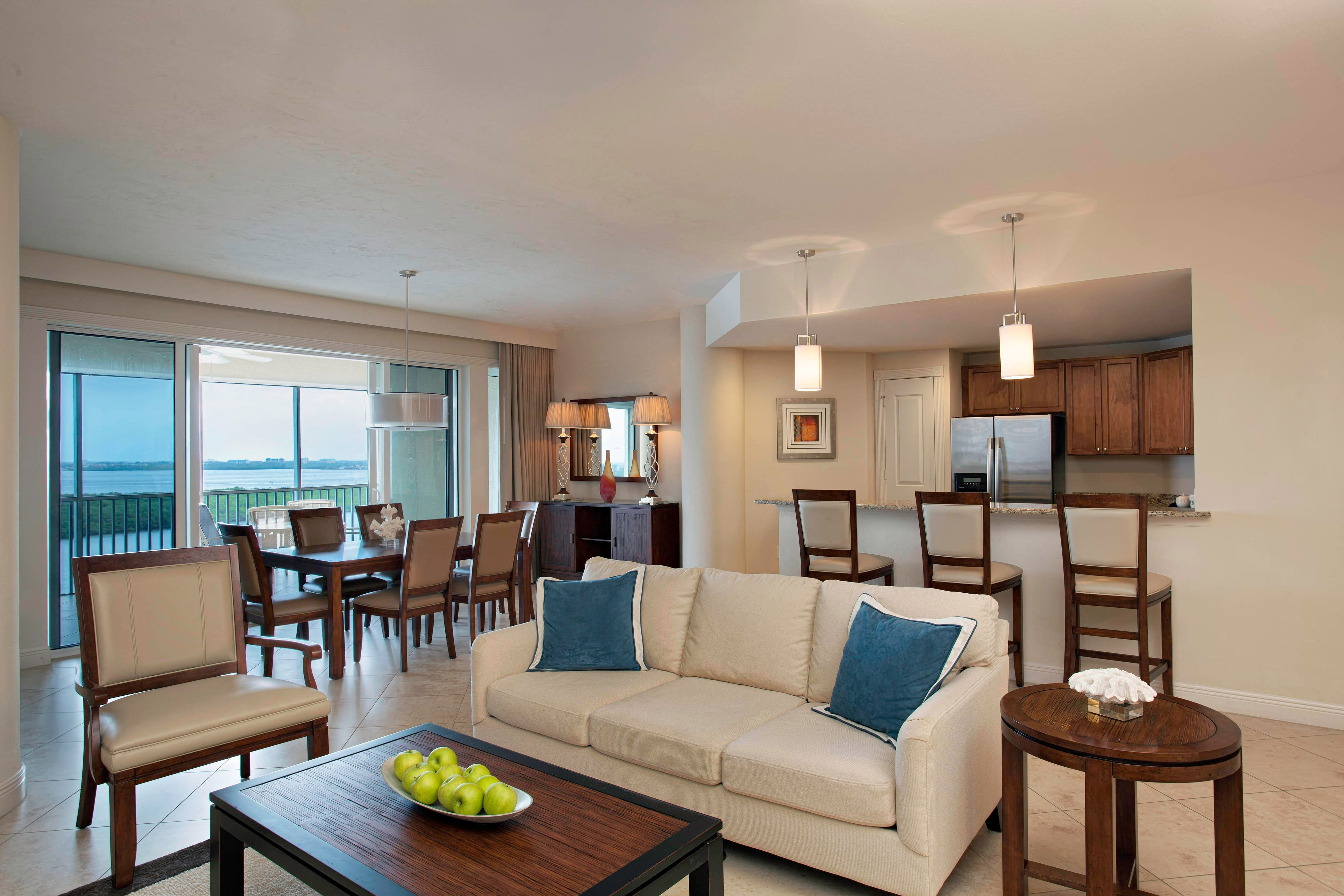 Living Room in Mariner Suite