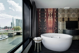 Waterfront Spa in Room Tub