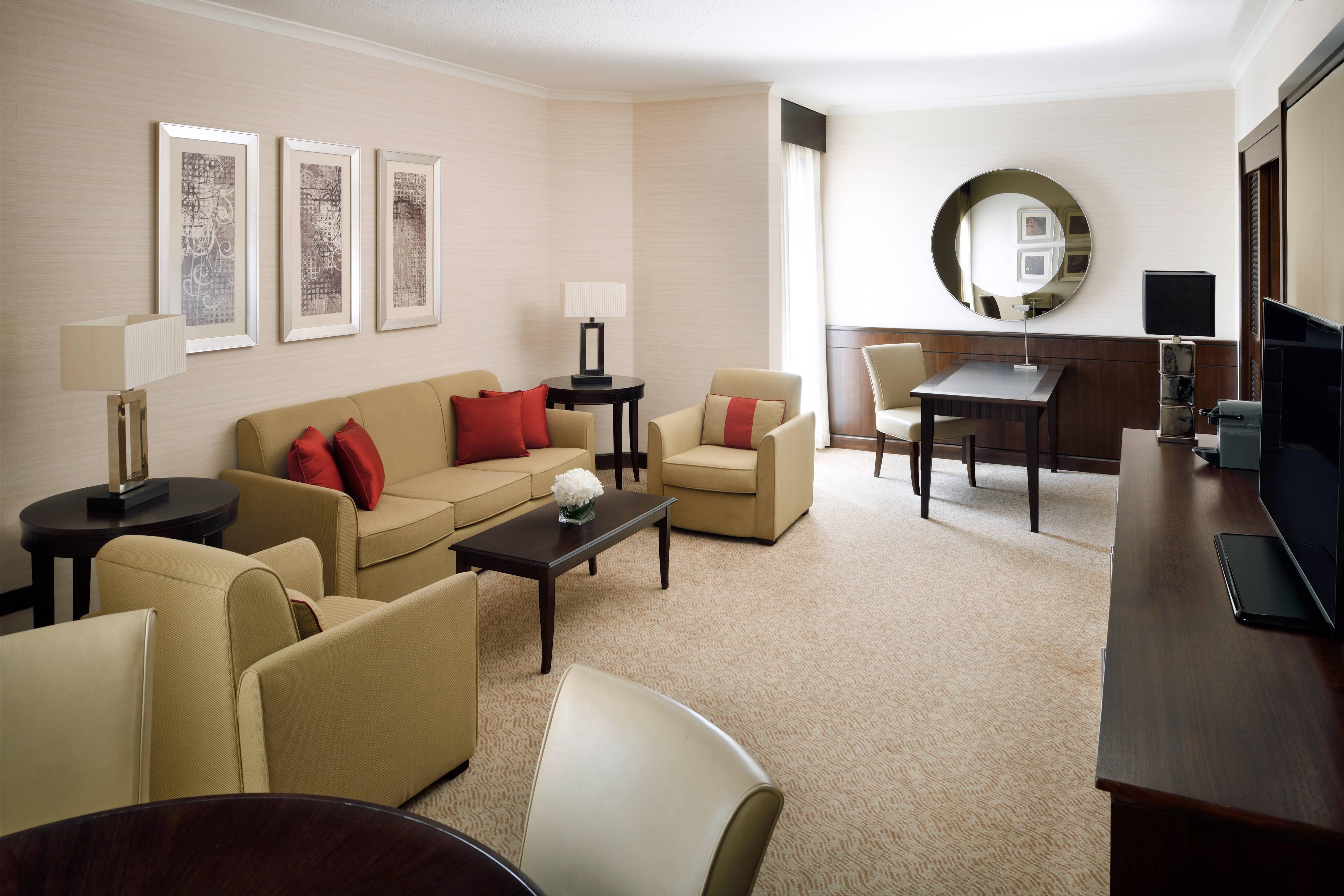 Área de estar de la suite Business
