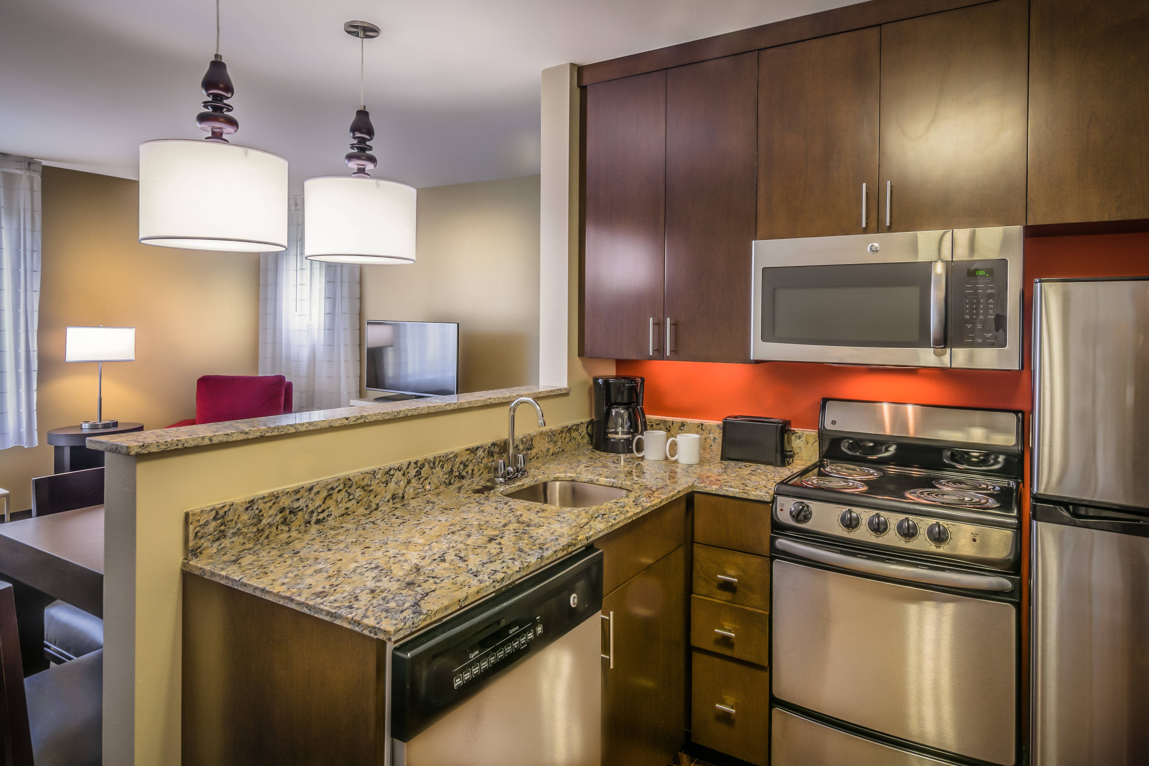 One and Two Bedroom Suite Kitchens