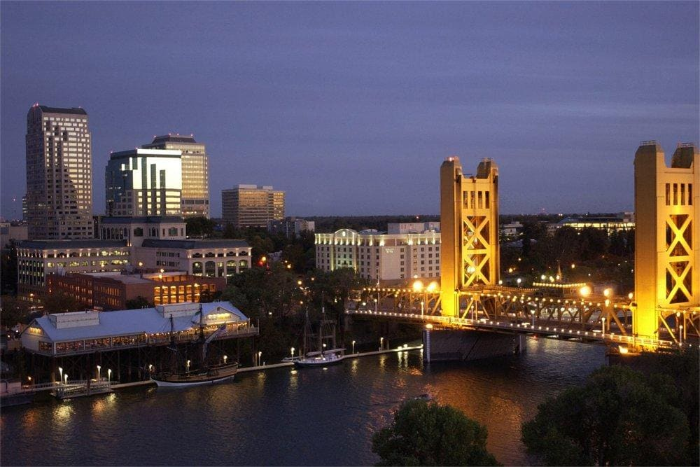 Sacramento Skyline at Night