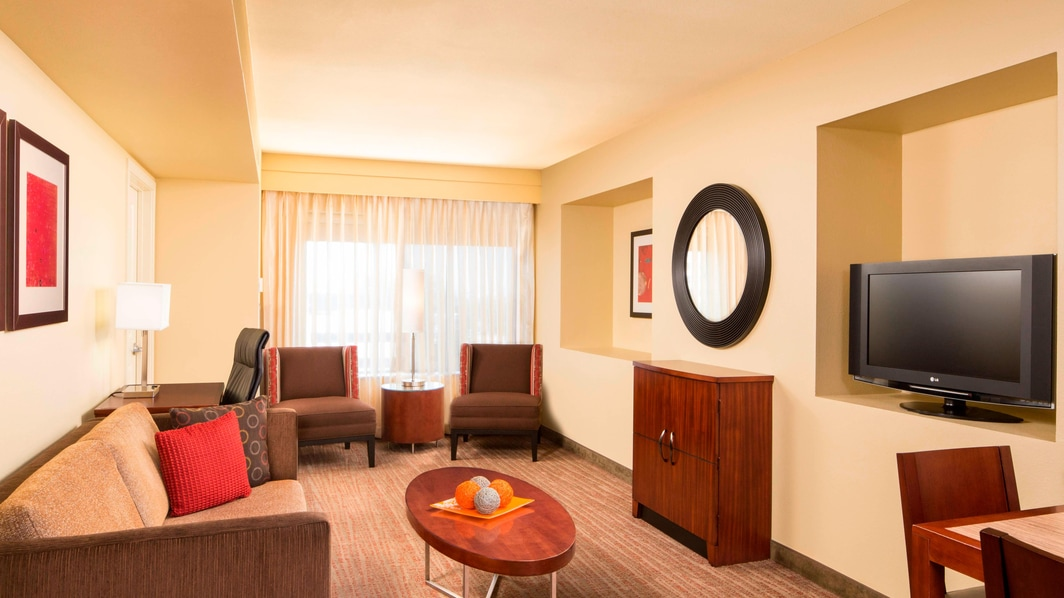 Hotel Two-Bedroom Suite Living Area