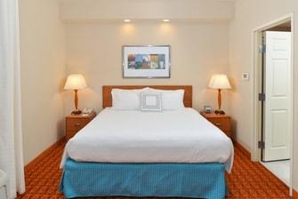 Elk Grove Hotel King Suite Bedroom Area