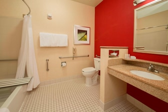 Folsom California Hotel Accessible Bath
