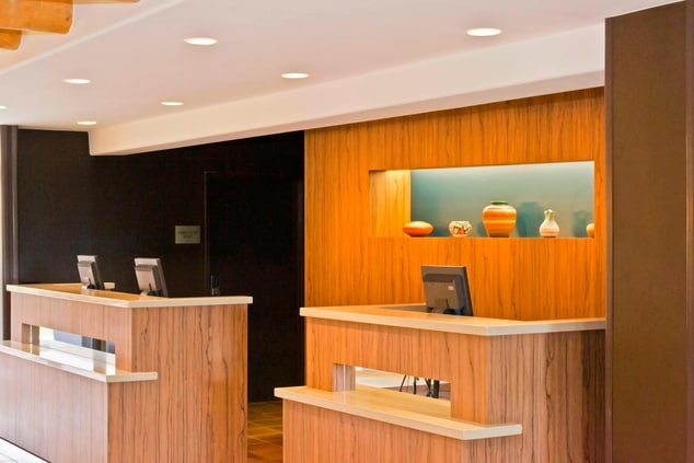 Modern Front Desk at the Courtyard Santa Fe