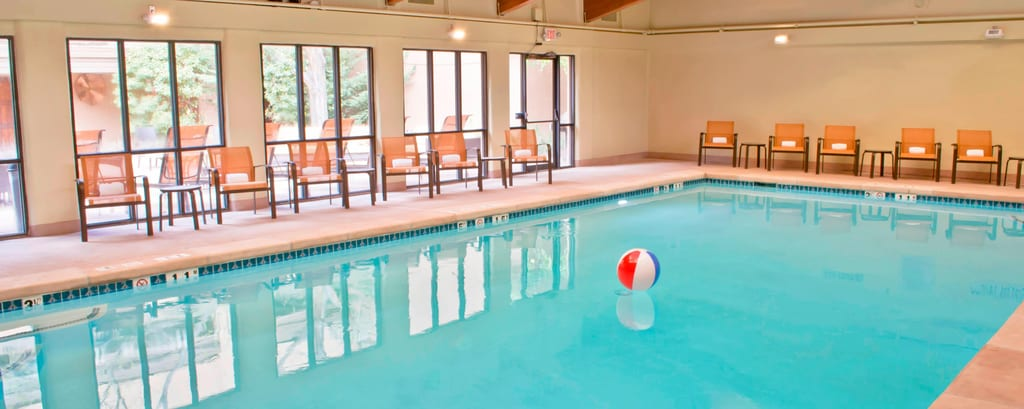 Heated indoor pool in Santa Fe Hotel