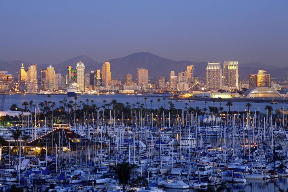 Vista da Baía de San Diego