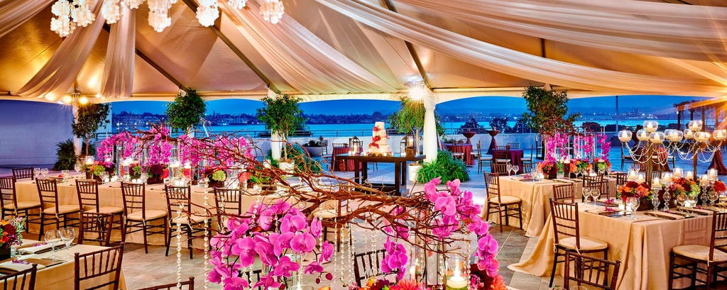 Outdoor wedding venues by san diego bay marriott marquis san diego coronado terrace junglespirit Image collections