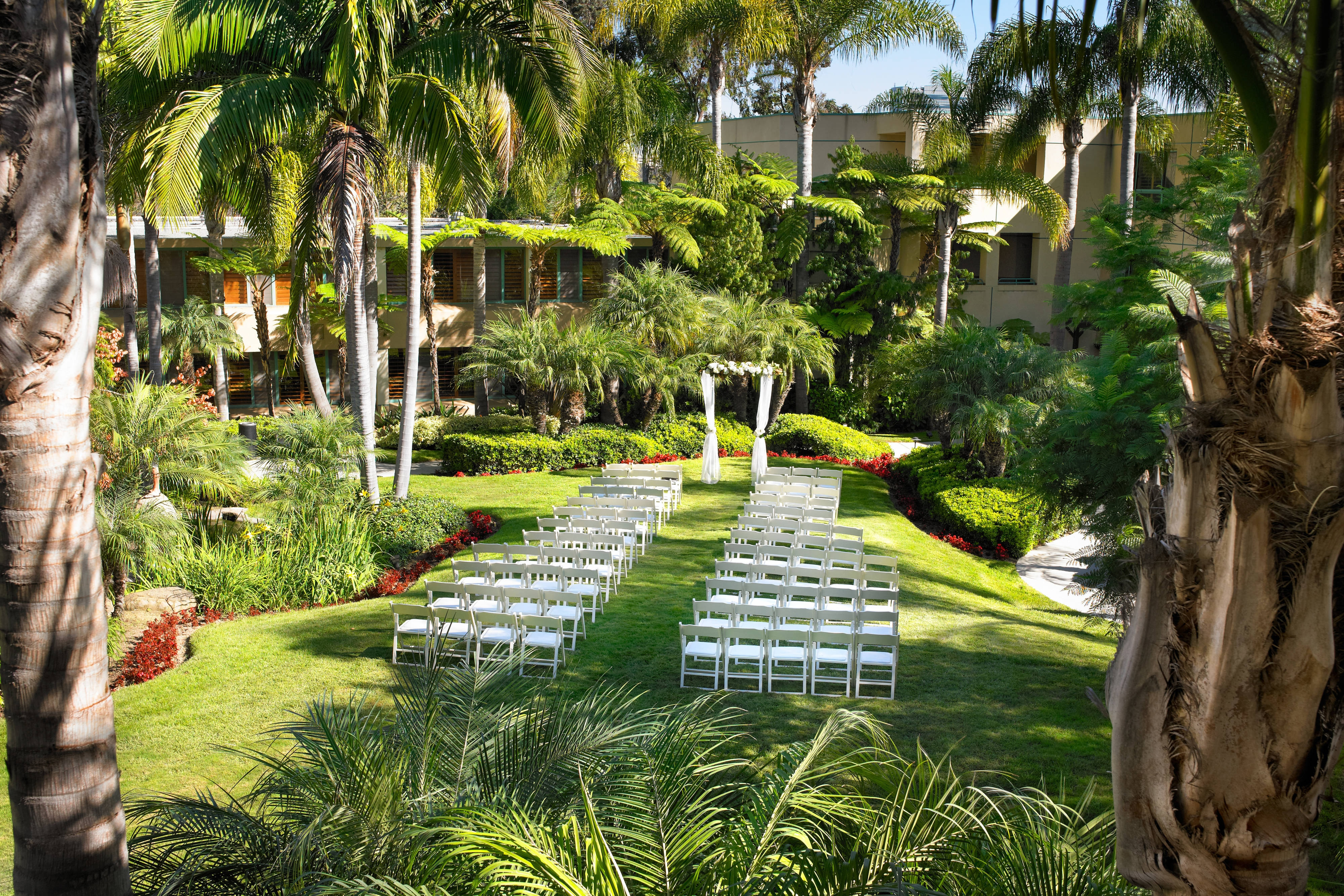 Garden Ceremony- View from Room