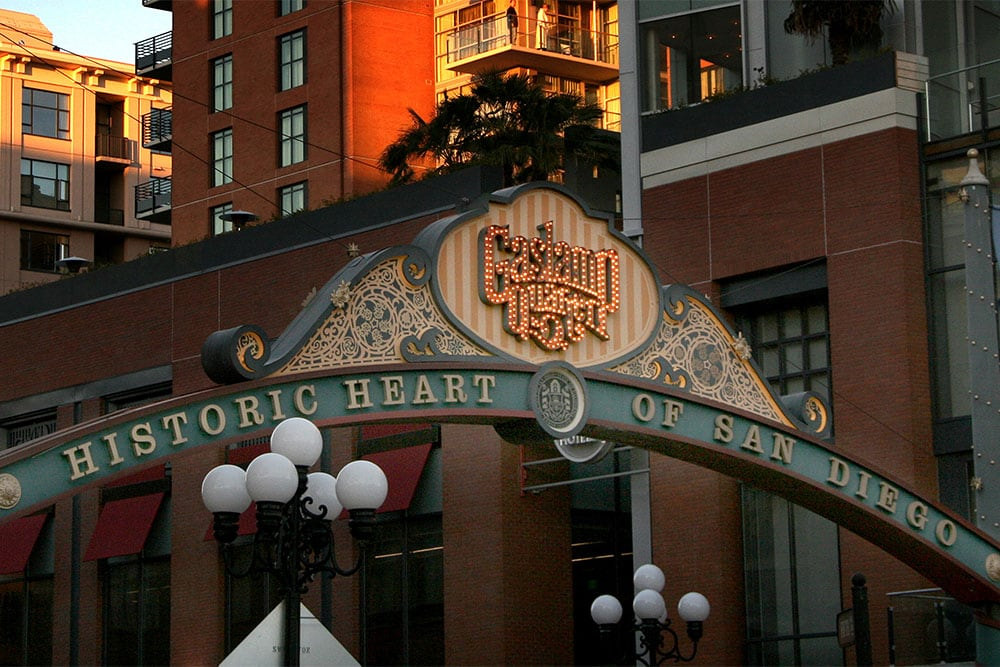Gaslamp Quarter Entry