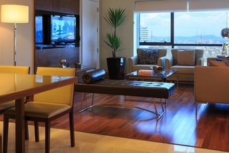 Sala de estar de la suite Waverly