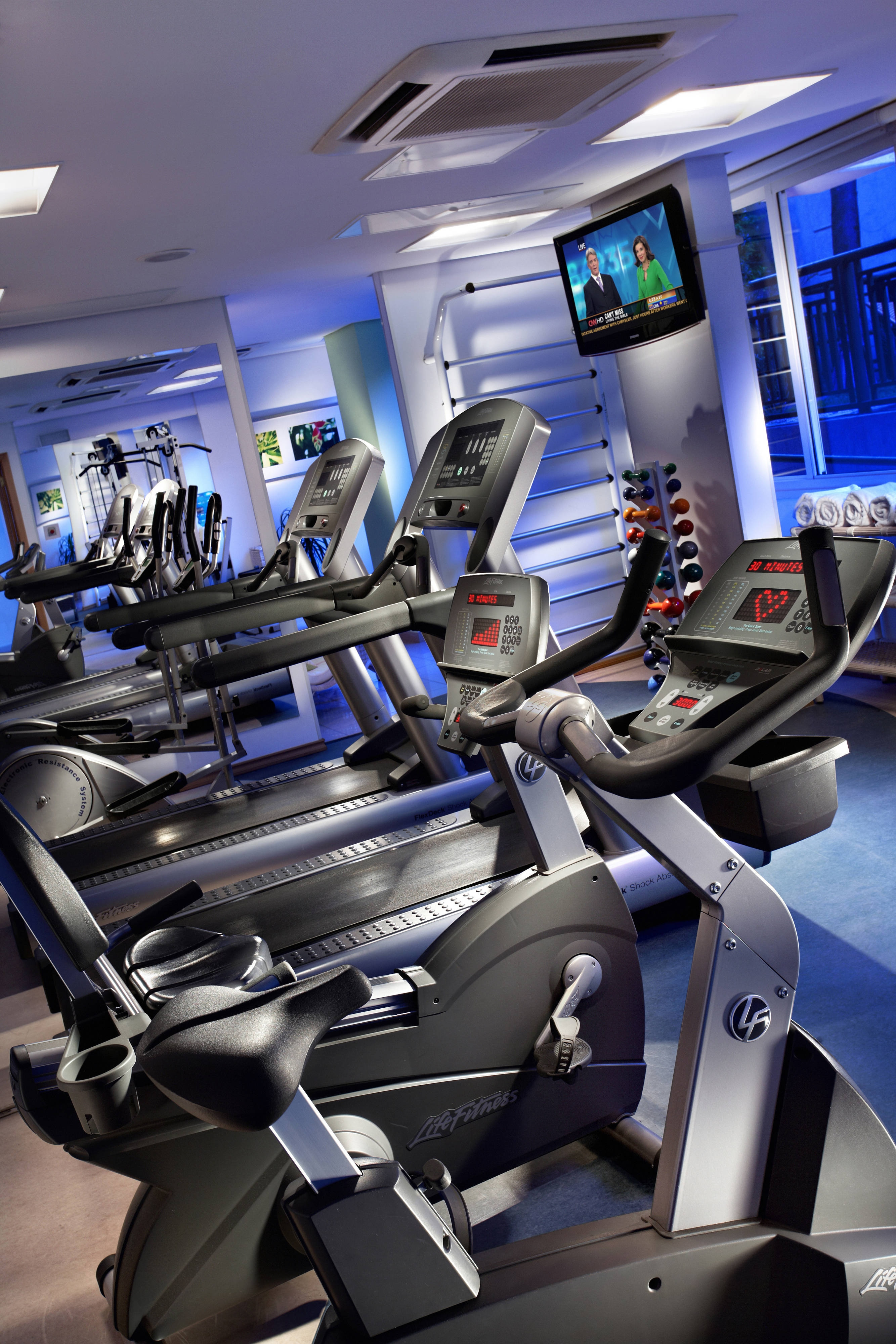 Gimnasio del Marriott Executive Apartments