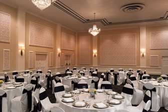 Crystal Ballroom set for Dinner