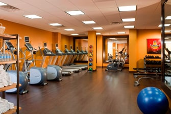 Gimnasio del Marriott Plaza San Antonio
