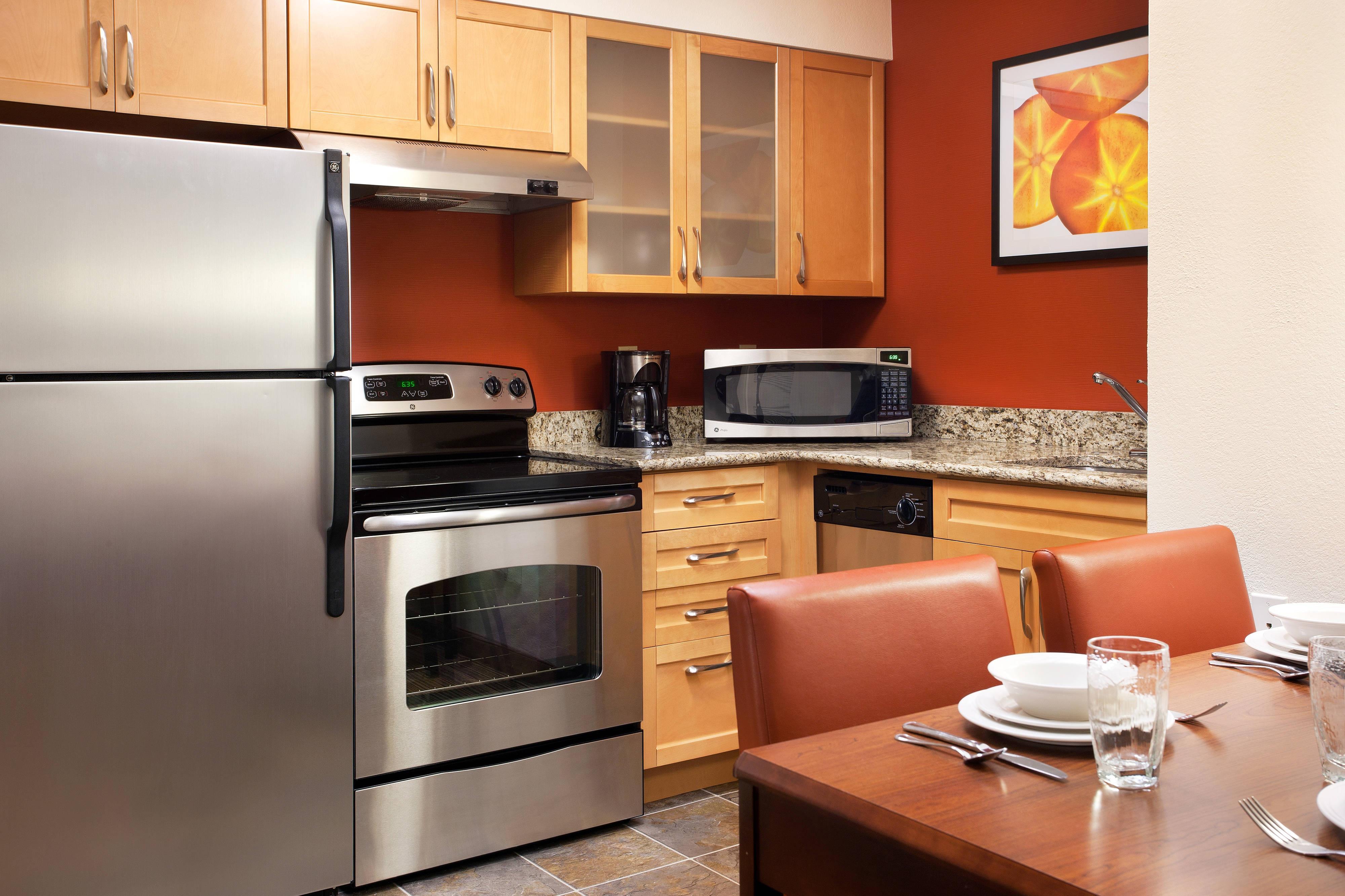 Cocina de la suite del hotel en San Antonio