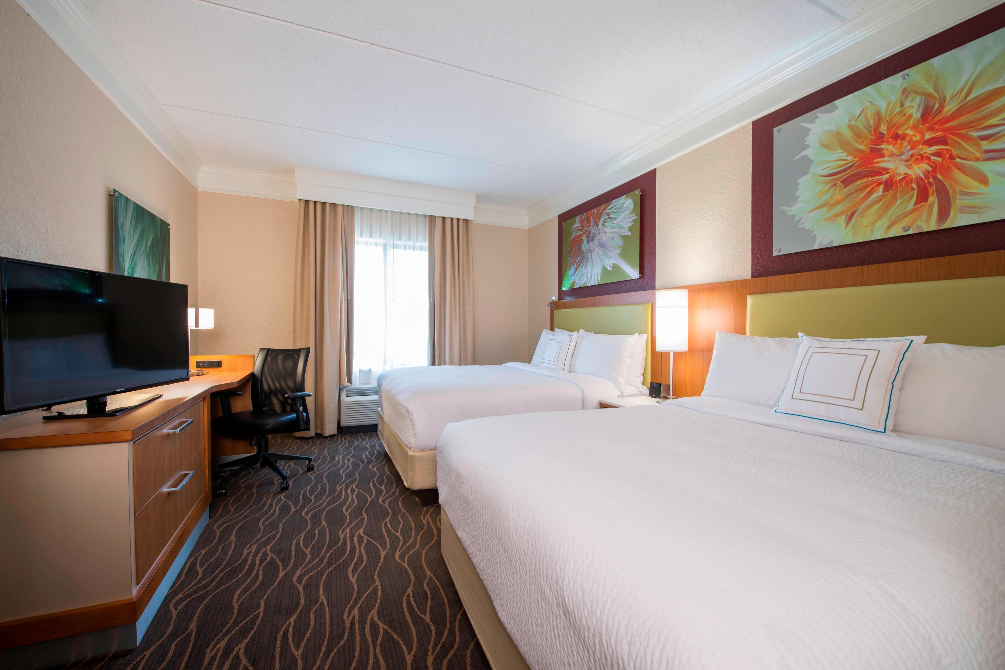 Suite mit zwei Queensize-Betten– Schlafbereich