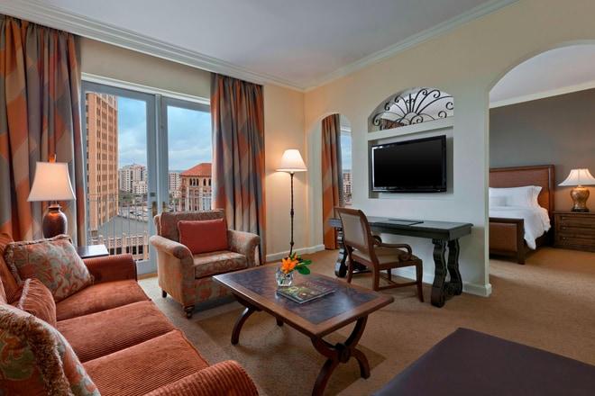 Corner Suite - Living Room and Bedroom