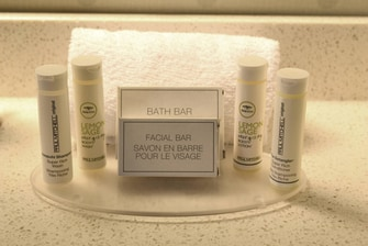 Paul Mitchell room amenities
