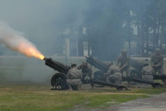 Canons on Memorial Day at Ft. Stewart